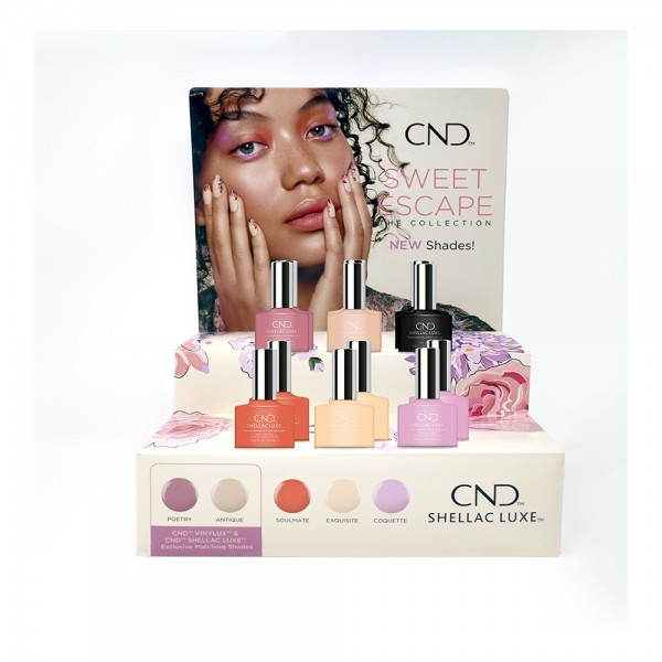 CND Sweet Escape Collection - Shellac Luxe Display Set (12 pc)