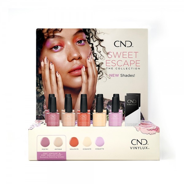 CND Sweet Escape Collection - Vinylux Display Set (12 pc)