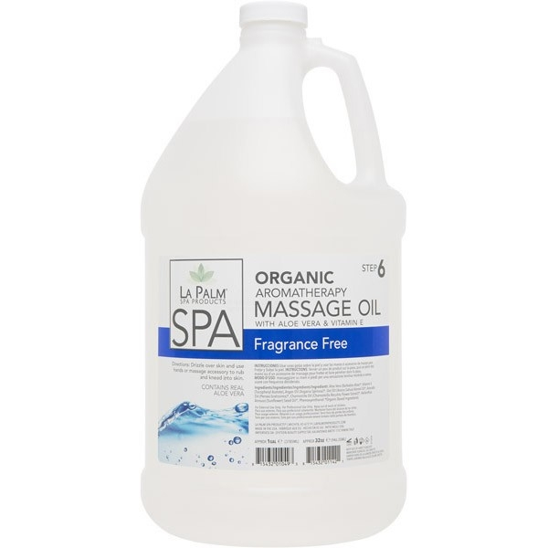 La Palm Massage Oil - Fragrance Free (Case of 4 x 1 Gallon)